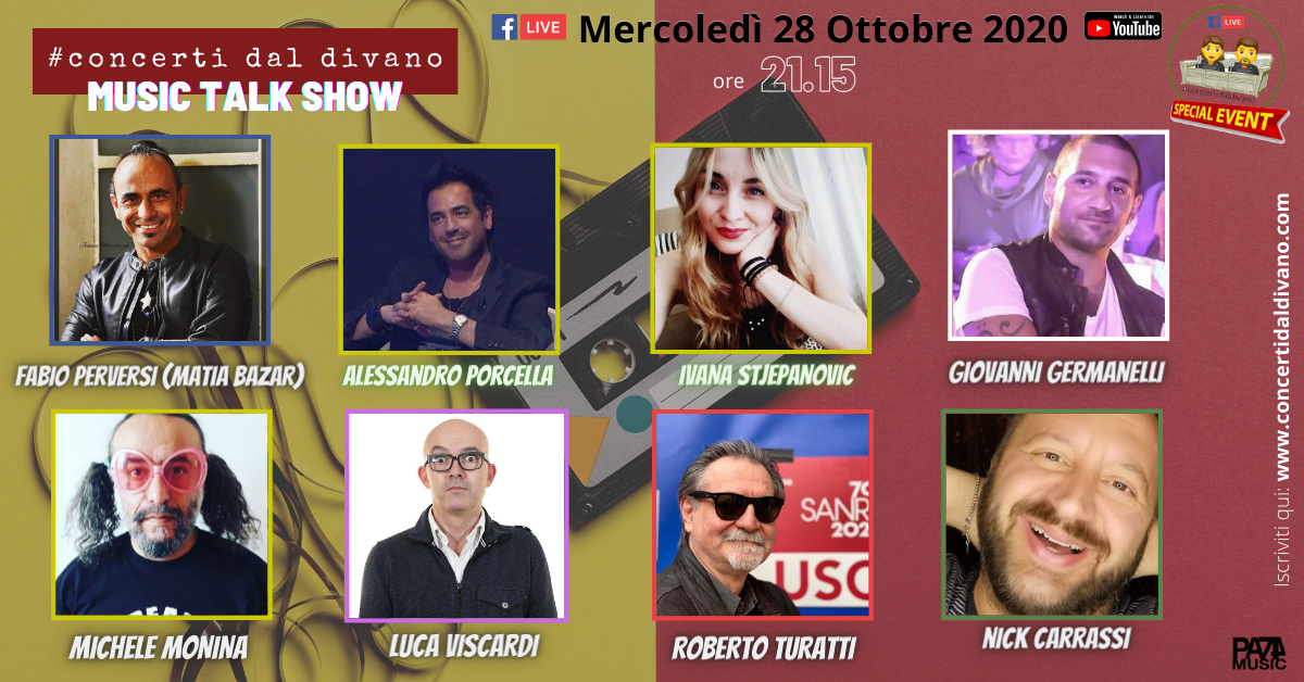 Music Talk Show #concertidaldivano Live Streaming